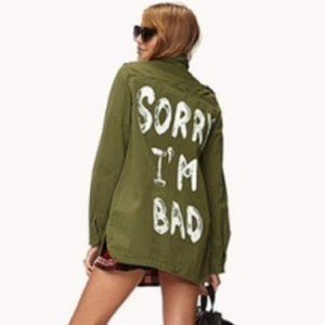 Forever 21 Army Green Utility Jacket Sz M